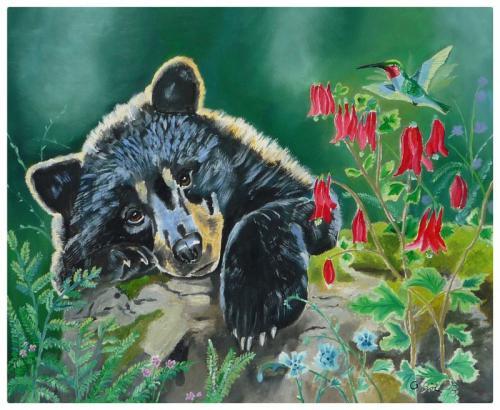Bär und Kolibri