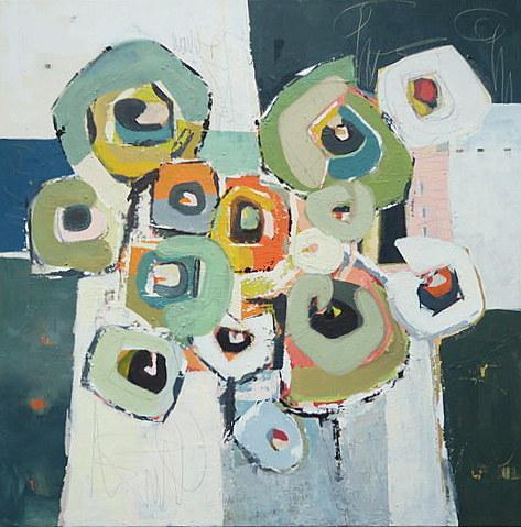 Komposition mit Grün II