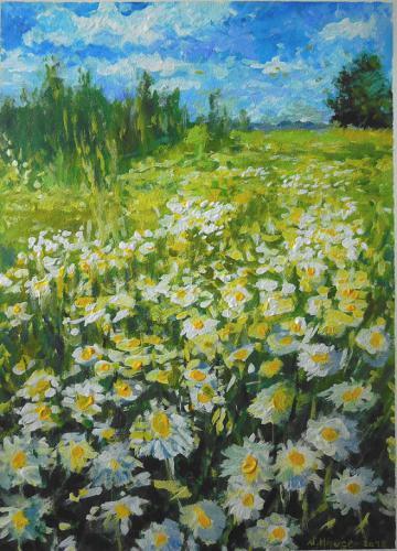'Landschaft mit Kamillenblüte' von  ansehen