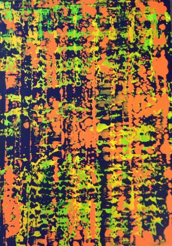 'Floating Colour Strokes' von Volker Franzius