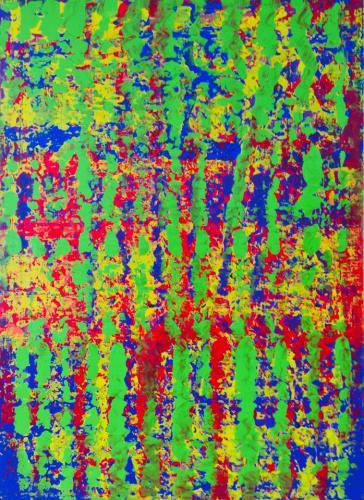 'Broken Green  Stripes' von  Volker Franzius