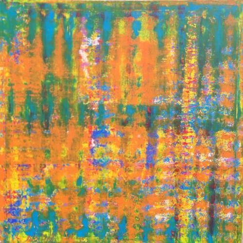 Orange Striped Square