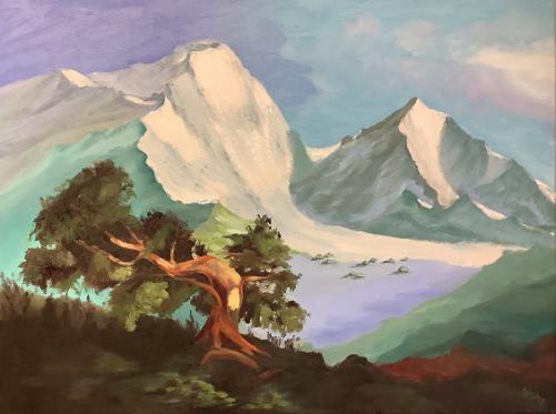 Kiefer in den Bergen