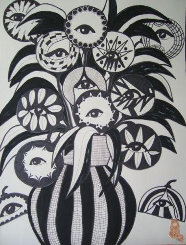 'Flowers watching you' von  anne phillips