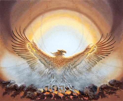 'Phönix' von Sandmalerin