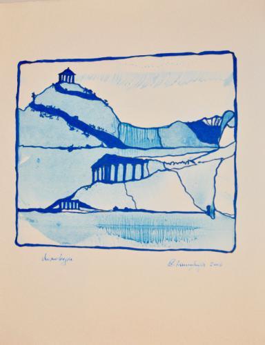 'Blaue Landschaft' von  DanningerChristine