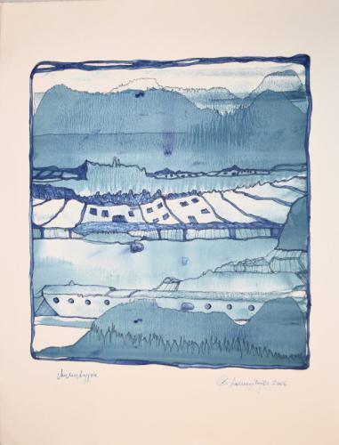 'Landschaft in Blau' von  DanningerChristine