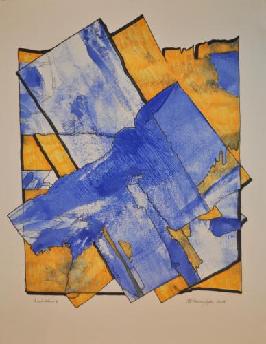 Blau trifft gelb