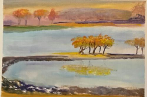 'Bäume am See' von HBaetke
