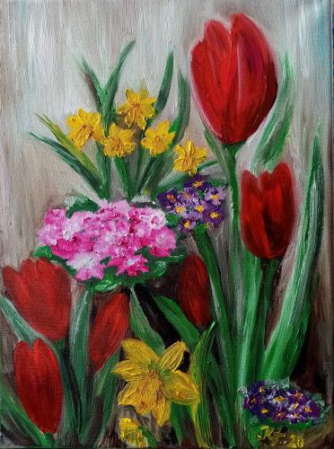 'Frühlingsgruß' von  Kathrin Thesenvitz