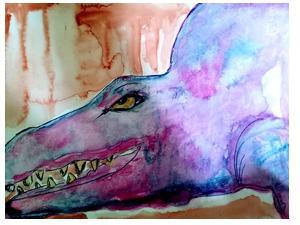 Freakiges Krokodil