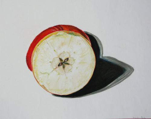 'Halbierter Apfel vor Apfel' von Friederike B