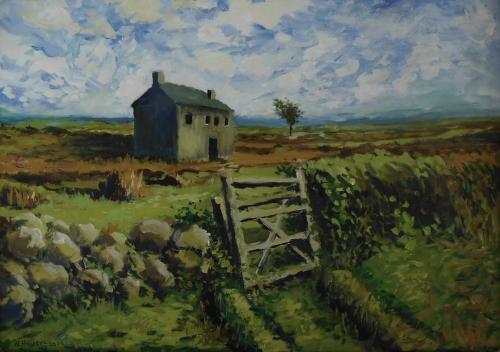 'Landschaft mit altem Haus und Gartenpforteforte' von  ansehen
