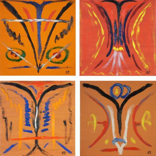Traffic, 4 Gemälde