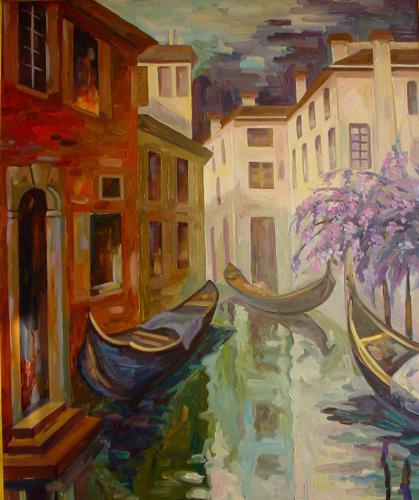 Venedig und Blauregen