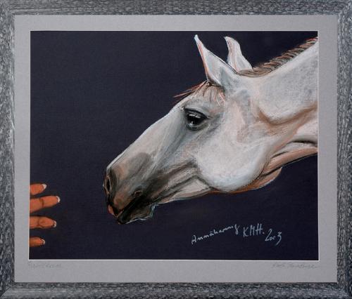 Annäherung,  Pferdekopf