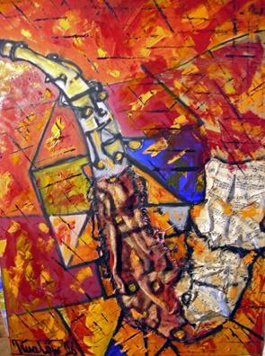 'Saxophon' von Tina Loew