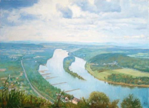 Aussicht auf Rhein von Drachenfels