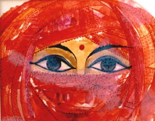 Der rote Sari