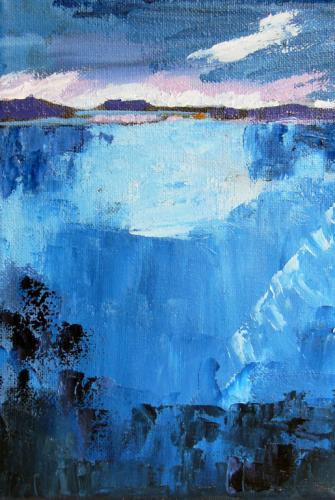 tiefer Bergsee
