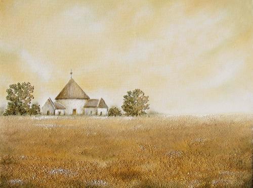 'Blick zur Kirche' von  Sandmalerin