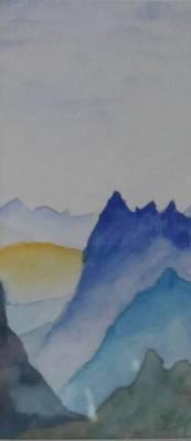 17. Sonne in den Alpen