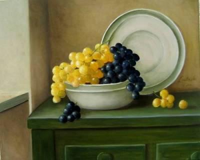 Nr.185 Trauben blau- gelb