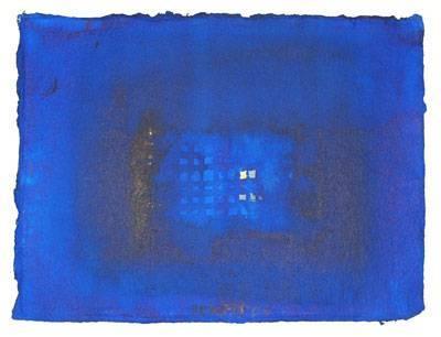 Gitter in Blau