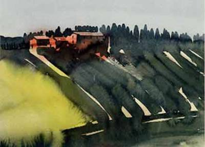 Toskana,Hof bei Siena