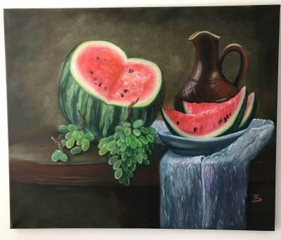 Wassermelone mit Krug