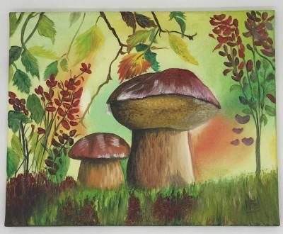 Pilzen im Wald