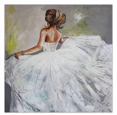 Wandbild Braut Gemälde Brautkleid Malerei Ballerina Menschen Bilder Frauen handgemalt