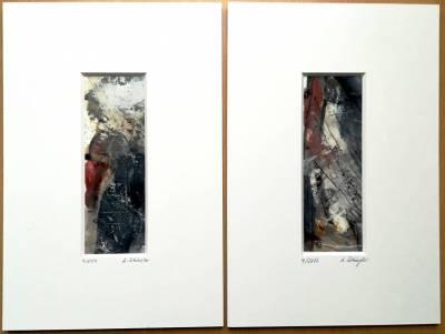 2 Passepartout-Bilder, Preis jeweils 48,-€