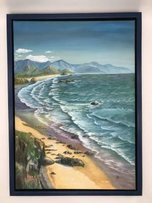 Der einsame Strand (inkl. Bilderrahmen)