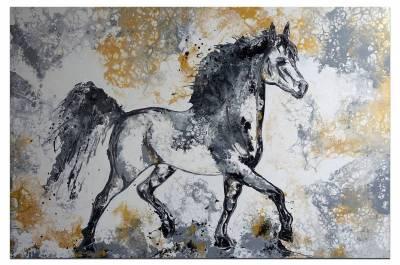 Pferdebild Gemälde Schimmel XXL handgemalt Acrylbild Unikat