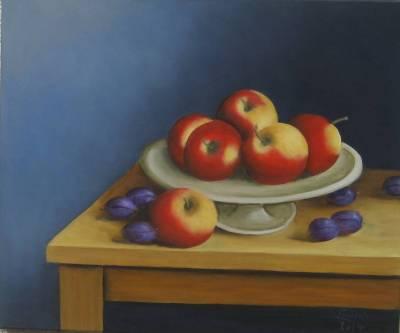 Nr.187  Tisch mit Obst