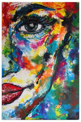 Abstraktes Porträt - Gesichtmalerei