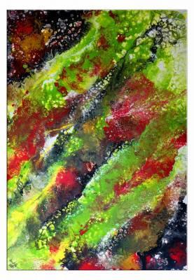 Dschungel - abstrakte Kunst Malerei