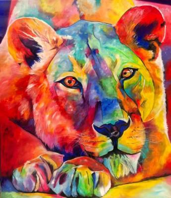 lion lady - 120 cm x 140 cm