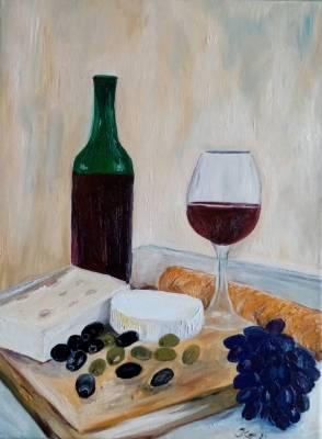 Käse, Wein und Oliven II