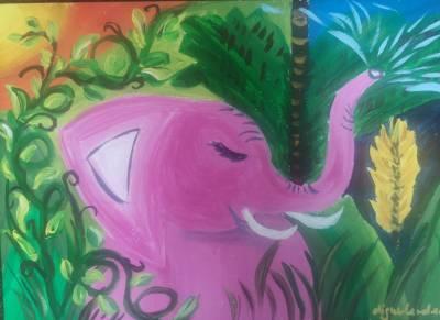 Das pinke Elefantenmädchen