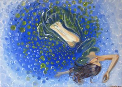 Frau im See der Sinne