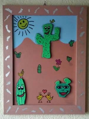 Kaktusse Bild Holz