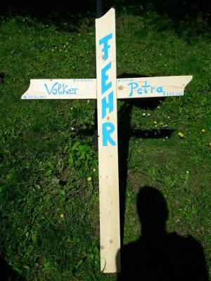 Kreuz Friedhof aus Holz