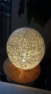 Lampe Toffifee und Fadentechnik