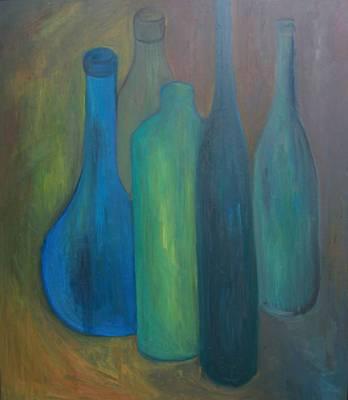 Flaschen blau I