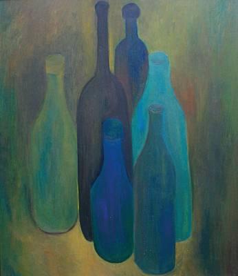 Flaschen blau II