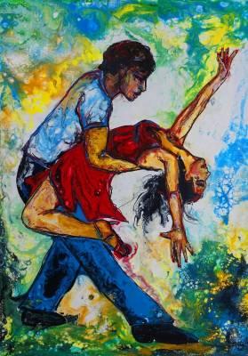 Mambo 21-1 Wandbild  - Tänzer Tanzbild  - Tanzpaar