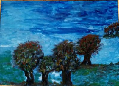 Bäume imHerbstwind