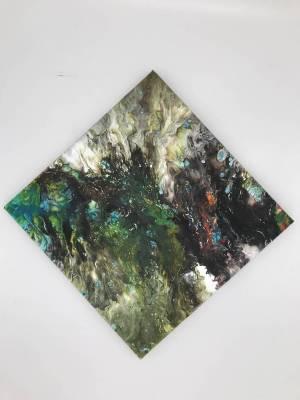 Aus der Tiefe entstanden, Abstraktes Bild, 30x30